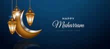 Happy Muharram Islamic Backgro...