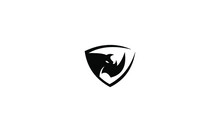 Rhino Animal Icon Logo