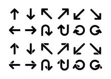 Single Direction Arrow Icon Ve...