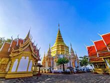 4 Kruba Pagoda Located On The Mountain Behind Wat Prabat Tak Pha, Lamphun, Thailand
