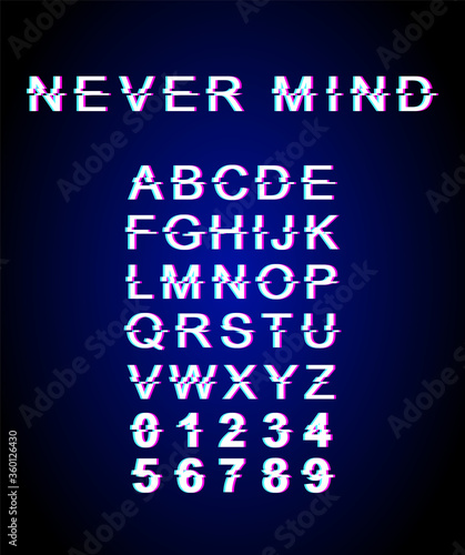 Photo Never mind font template
