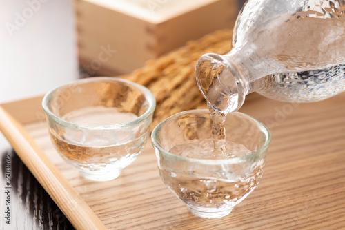日本酒の冷や酒 Canvas-taulu