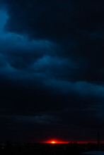 Black Thunderclouds At Sunset....