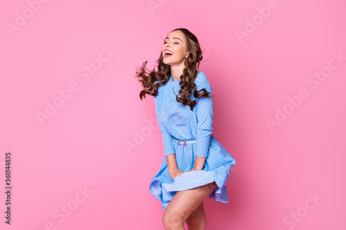 Fototapeta Portrait of her she nice-looking attractive lovely pretty glad fascinating cheer