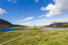 Ruins Of Ardvreck Castle At Lo...