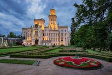Hluboka Chateau Illuminated At...