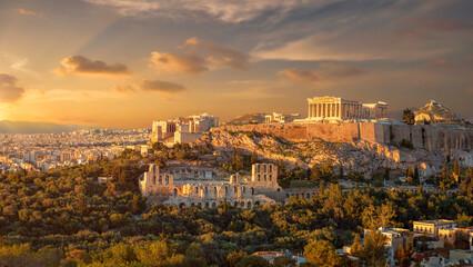Akropolis Atena pri zalasku sunca