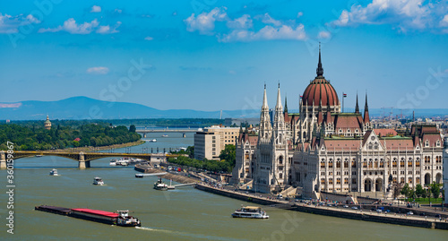 Leinwand Poster hungarian parliament in budapest