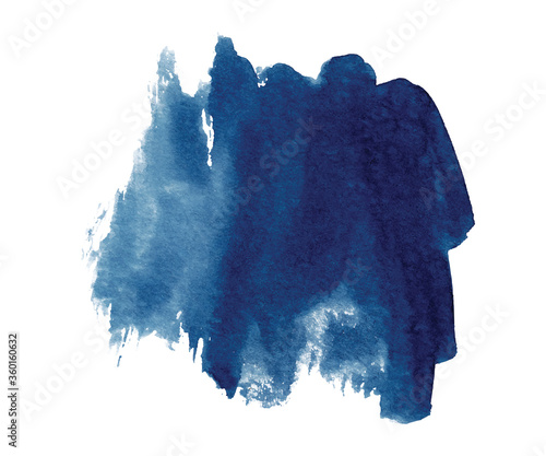 Fototapeta Abstract watercolor classic blue shapes on white background