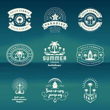 Summer Holidays Labels And Bad...