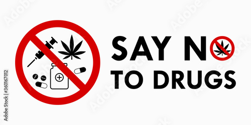 Photo Say no to drugs lettering