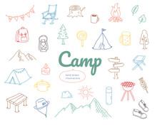 手書きのキャンプのイ...