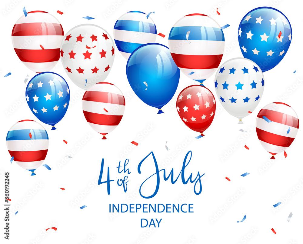Fototapeta Independence Day Balloons