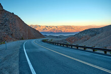 Road Against The Backdrop Of M...