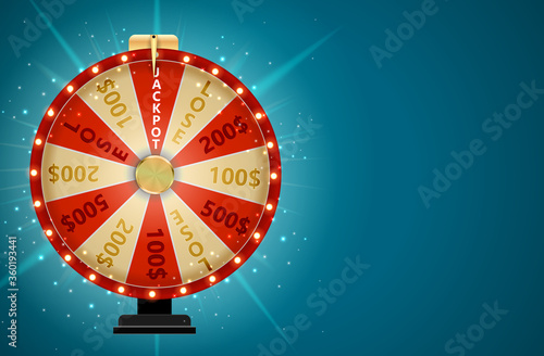 Photographie Wheel of Fortune, Lucky Icon with Place for Text