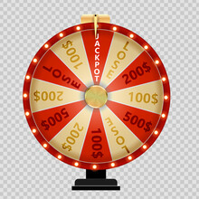 Wheel Of Fortune, Lucky Icon. ...