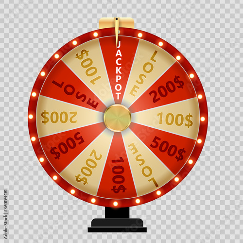 Wheel of Fortune, Lucky Icon. Vector Illustration Tableau sur Toile