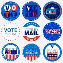 Set Of Nine Election Campaign ...