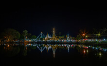 View Of The Night Market In Mae Hong Son