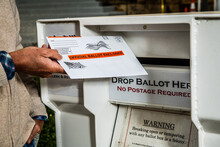 Dropping Mail-in Ballot In Bal...