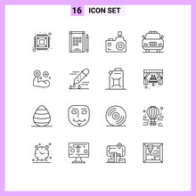 Outline Pack Of 16 Universal S...