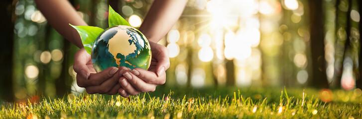 Save Green Planet. Environment Concept