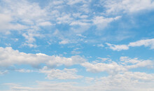Beautiful Blue Sky And White Clouds. Nature Background. Sky Clouds.