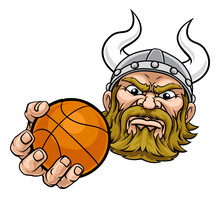 A Viking Basketball Sports Mas...