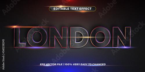 Editable text effect - Word London