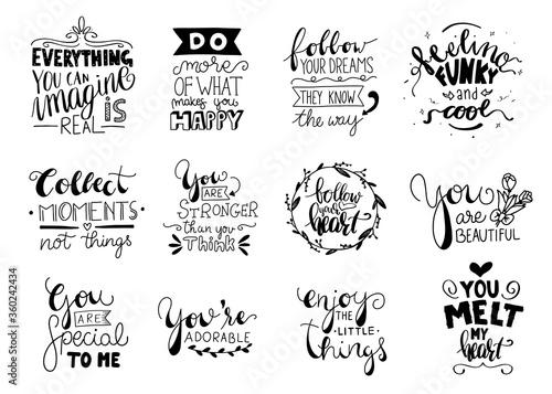 Obraz na plátně Modern handlettering. Hand drawn typography phrase design.