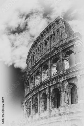 Foto Coloseum monochromatyczne