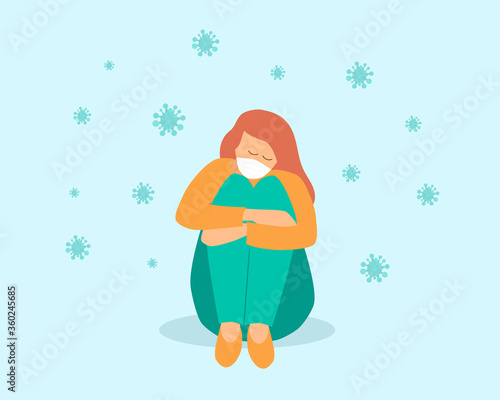 Cuadros en Lienzo loneliness and depression from social distancing, isolated stay home alone in CO