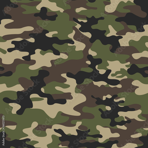 Photo Camo pattern vector seamless pattern forest background