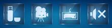 Set USB Flash Drive, Retro Cin...
