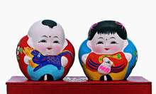 Hand Painted Chinese Dolls, So...