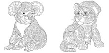 Coloring Pages With Koala Bear And Tiger