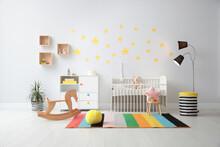 Stylish Baby Room Interior Wit...