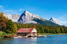 Maligne Lake Boat House With C...