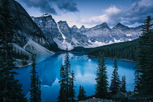 Blue Hour At Moraine Lake, Ban...