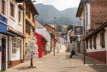 Street Scene, La Candelaria, Bogota, Cundinamarca, Colombia, South America