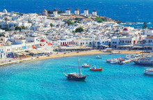 Mykonos Town, Elevated View, M...
