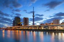 Tokyo Skytree And Sumida River...