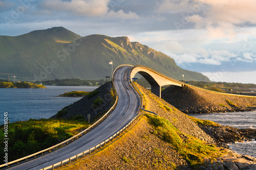 Storseisundet Bridge along the Atlantic Ocean Road, More og Romsdal, Norway