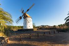 Windmill At Sunset Near El Cot...