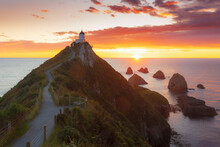 Elevated View Of Nugget Point ...