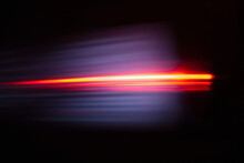Close-up Of Abstract Red Light...