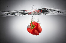 Close-up Of Red Bell Pepper In...