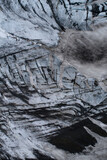 Full frame shot of glacial formation during winter, Kverkfjoll, Iceland