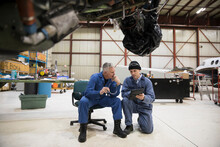 Male Airplane Mechanics With D...