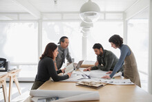 Creative Team Meeting In Office